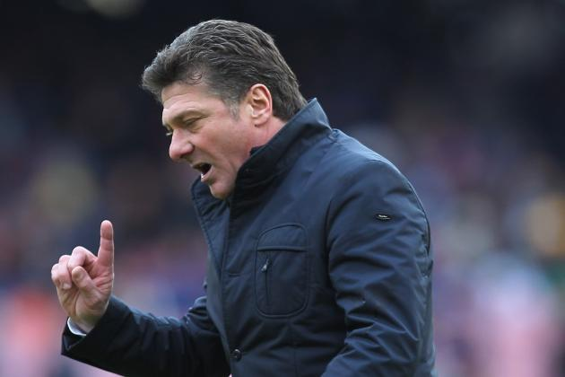 Serie A: Napoli Boss Walter Mazzarri Turns Focus to Cutting AC Milan Adrift