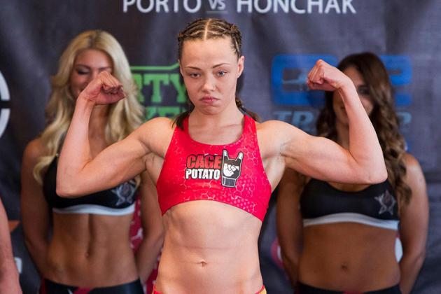 UFC's Pat Barry Goes Nuts Over Girlfriend Rose Namajunas' Invicta FC Armbar Win