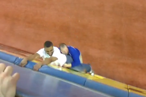 Blue Jays Fan Successfully Storms Field, Unsuccessfully Attempts to Get Away
