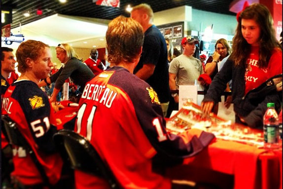 Instagram: Campbell and Huberdeau Sign Autographs