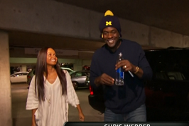 Chris Webber Arrives at the Georgia Dome