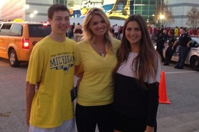 Kate Upton Is at the National Championship Rooting for Michigan