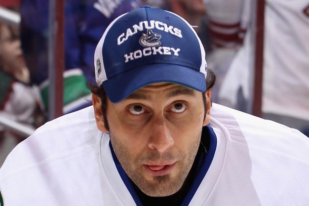 Roberto Luongo Injures Hand During Canucks Warmup