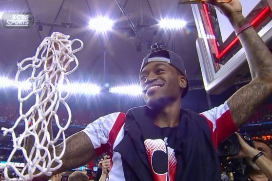 Kevin Ware Cuts Down the Net with Louisville