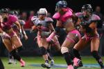 Woah: Lingerie League Football Player Trucks 2 Defenders
