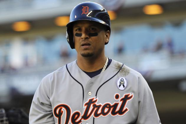 Victor Martinez Requires Eight Stitches After Run-in with a Bat Rack