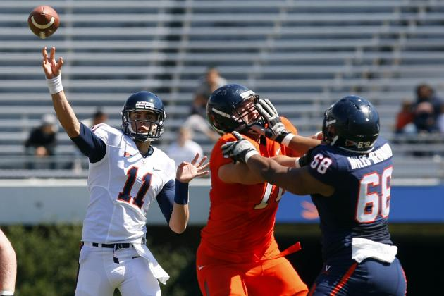 Virginia Football Struggles to Muster Much Offense at Spring Game