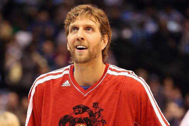 Dirk Sits Out Practice, 'Hopeful' to Play vs. Suns