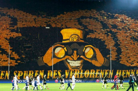Borussia Dortmund's Fans Create Sensationally Scary Image in Stands