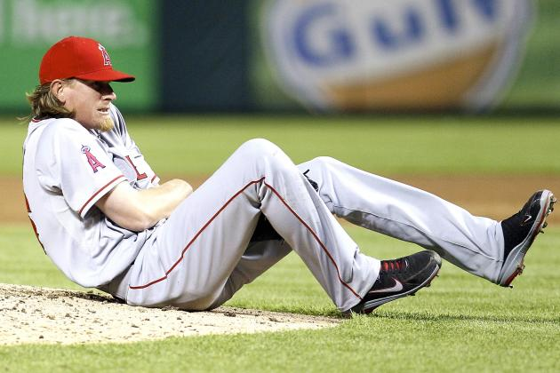 Jered Weaver Injury: Angels Ace Will Miss 4 to 6 Weeks After Fracturing Elbow