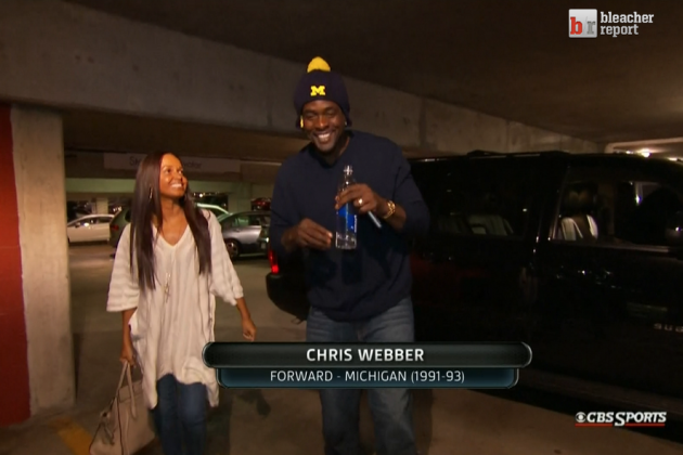Chris Webber Appears at National Championship Game to Support Michigan