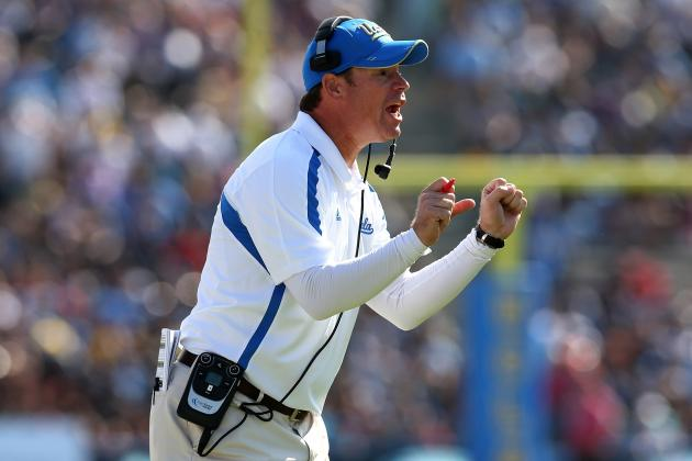 UCLA Coach Jim Mora Thinks Assistant Is Having a Heart Attack