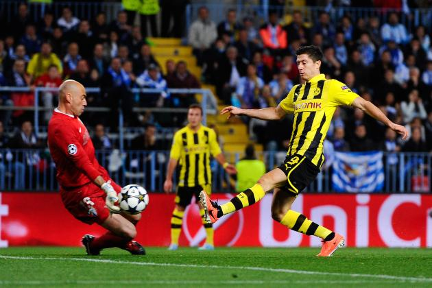 Borussia Dortmund Score Twice in Injury Time to Stun Malaga in Champions League