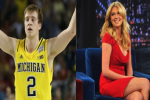 Michigan's Albrecht Hollers at Kate Upton on Twitter