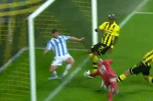 Santana, Dortmund Shock Malaga