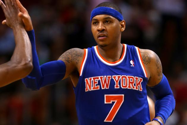 Carmelo Anthony Tops LeBron James for Most Popular NBA Jersey