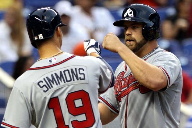 Gattis Homers in First, Braves Lead All the Way