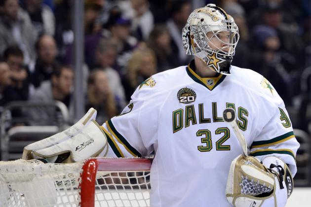 Kari Lehtonen Leaves Game with Injury, Will Be Re-Evaluated Wednesday