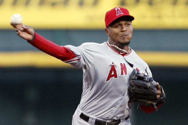 Angels SS Erick Aybar Leaves in 3rd Inning with Bruised Left Heel