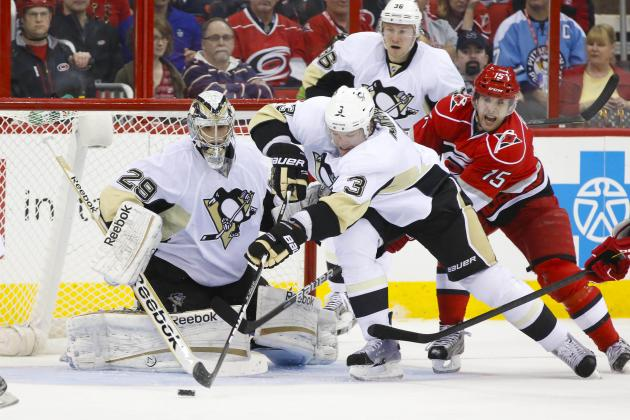 Penguins Edge Hurricanes to Clinch Atlantic Division