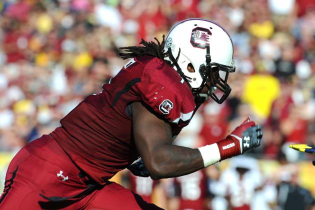 Neck Injury May Keep South Carolina's Jadeveon Clowney out for Rest of Spring