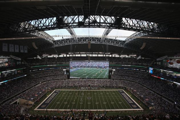 Local Draft Prospects Audition at Cowboys Stadium