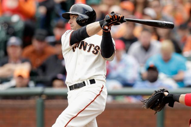 Scutaro Admits He's Jumping at Ball in Search of Last Year's Swing
