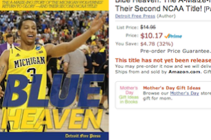 Michigan Basketball National Championship Book for Sale on Amazon