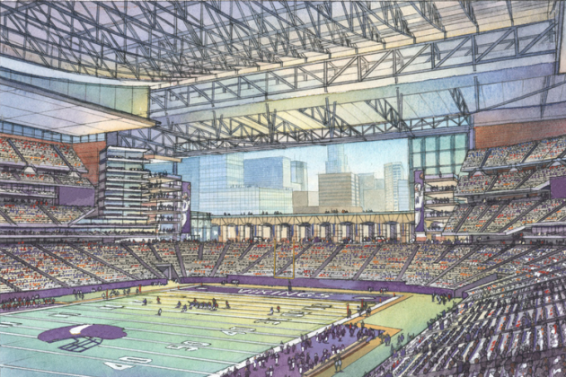 Vikings Stadium Backup Financing Bill Calls from Bigger Team Contribution