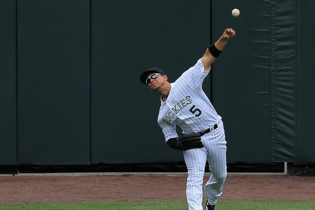 Rockies' Carlos Gonzalez's Arm Already Is in Midseason Form