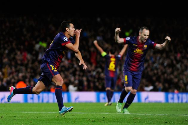 Barcelona vs. Paris Saint-Germain: Watch GIF of Pedro's Tie-Winning Strike
