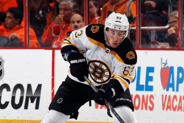 Marchand Helped to Locker Room After Volchenkov Headshot