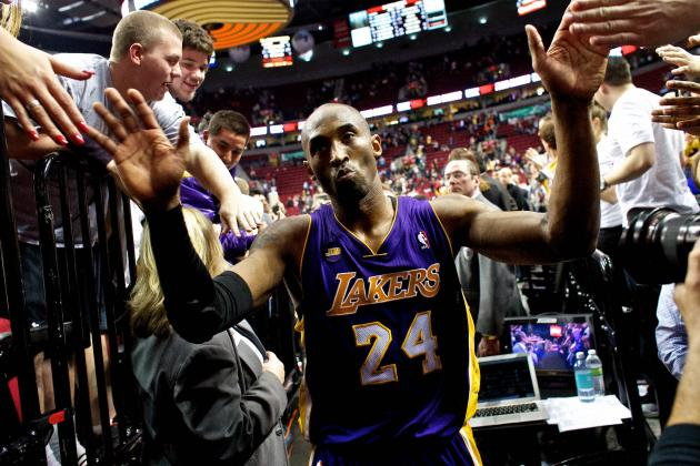 Kobe Bryant Hears MVP Chants in Portland (Video)