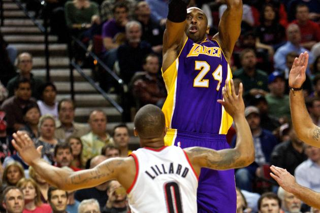 Rookie Damian Lillard Goes Shot-for-Shot with Kobe Bryant
