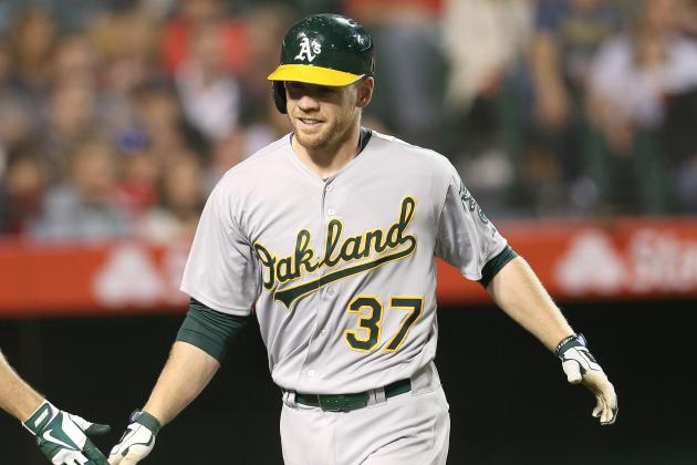 Moss Drives in 5 to Lead A's Romp over Angels