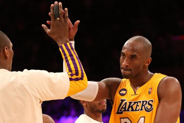 Kobe Bryant Gives His All in Lakers' 113-106 Win over Trail Blazers