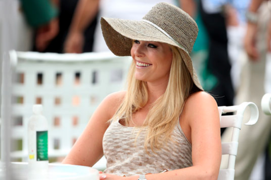 Lindsey Vonn Attends 2013 Masters to Watch Boyfriend Tiger Woods