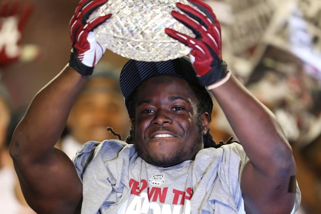 Alabama's Eddie Lacy Has Mixed Results at Workout
