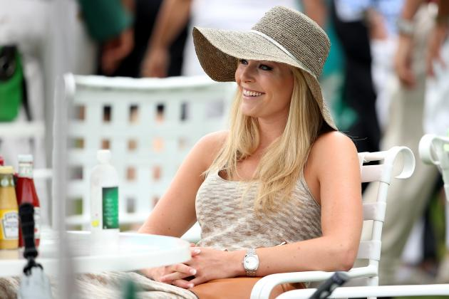 Masters: Tiger Woods, Lindsey Vonn at Augusta National Together