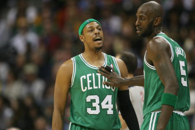 Paul Pierce and Kevin Garnett Injuries Are Concerning Sign with Playoffs Nearing