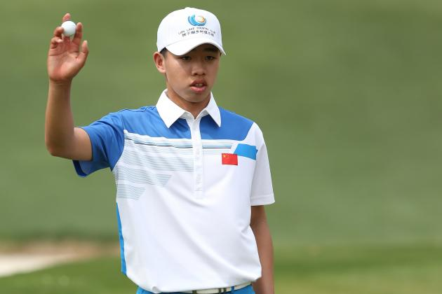 14-Year-Old Guan Impresses with 1-over 73