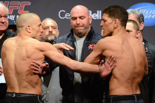 Georges St-Pierre Told Same Exact Rule as Nick Diaz Prior to UFC 158 Weigh-Ins