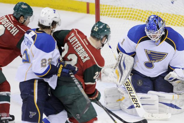 Blues Post Third Consecutive Shutout to Beat Wild