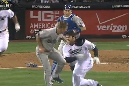 Greinke Pegs Quentin, Brawl Ensues