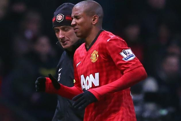 Fergie: Ashley Young out for Next Two Weeks