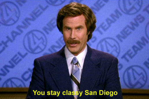 Dodgers, Ron Burgundy Take Battle to Twitter