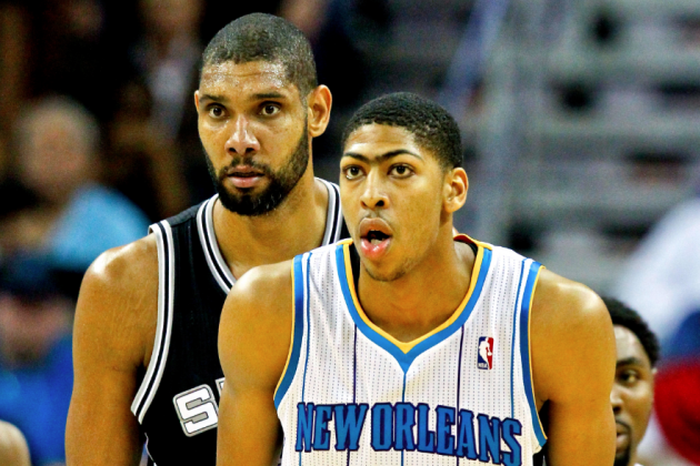 Comparing Anthony Davis to Tim Duncan and Kevin Garnett's Rookie Seasons