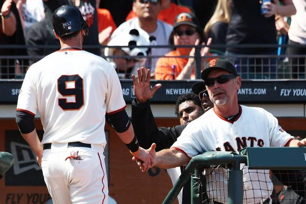 Bruce Bochy's Take on the Dodgers-Padres Brawl, Plus Belt's Slump