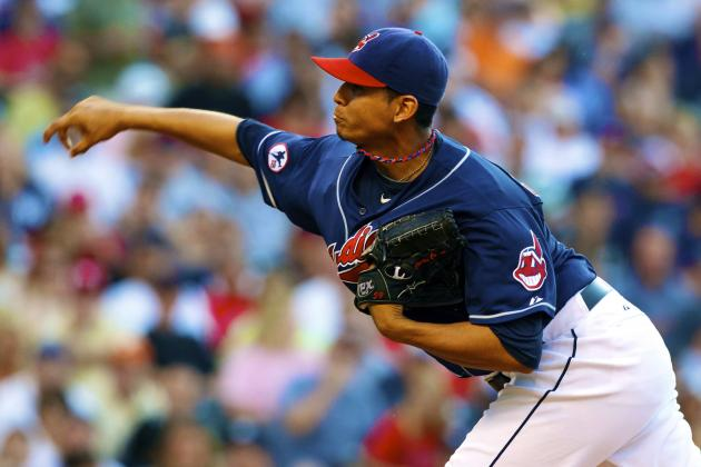 Carlos Carrasco Suspended 8 Games for Throwing at Yankees' Kevin Youkilis