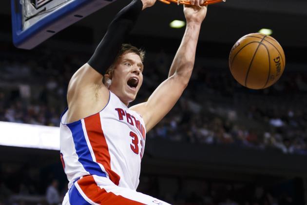 Jerebko Leads Pistons Past Bobcats